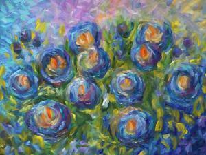Roses Are Blue by Olena Art