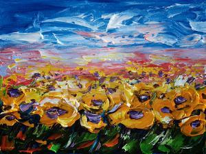 Sunflower Field by Olena Art