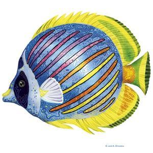 Fish 1 Blue-Yellow by Olga And Alexey Drozdov