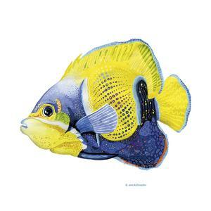 Fish 3 Blue-Yellow by Olga And Alexey Drozdov