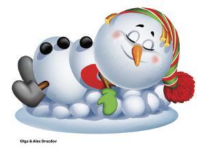 Sleeping Snowman by Olga And Alexey Drozdov
