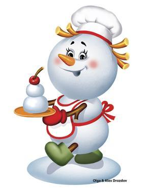 Snowman Cook by Olga And Alexey Drozdov