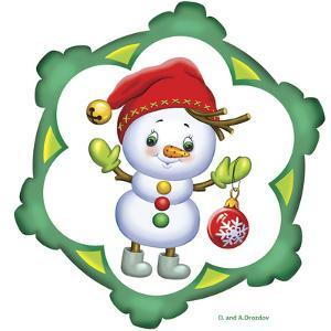 Snowman in a Red Cap by Olga And Alexey Drozdov