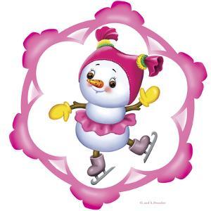 Snowman on the Skates by Olga And Alexey Drozdov