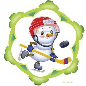Snowman the Hockey Player by Olga And Alexey Drozdov