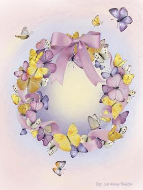 Wreath With Butterflies by Olga And Alexey Drozdov