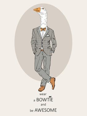 Goose in Pin Suit by Olga Angellos