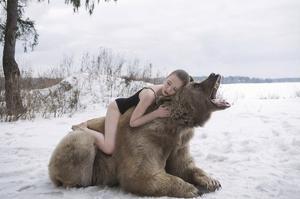 Napping on a Bear by Olga Barantseva