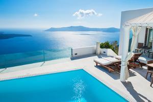 White Architecture on Santorini Island, Greece. by Olga Gavrilova