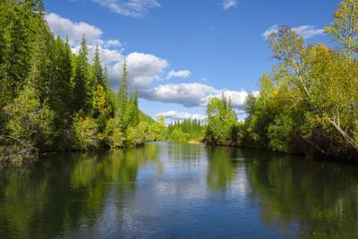 Landscape of the upper reaches of the Lena River, Baikalo-Lensky Reserve, Siberia, Russia