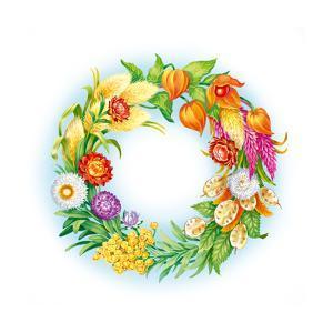 Wreath with Dried Flowers by Olga Kovaleva