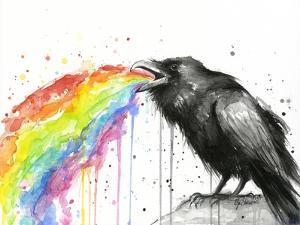 Raven Tastes the Rainbow by Olga Shvartsur