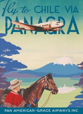 Fly to Chile - Via Panagra - Pan American-Grace Airways by Oliphant