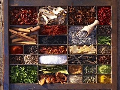 Various Spices in a Type Case by Oliver Brachat