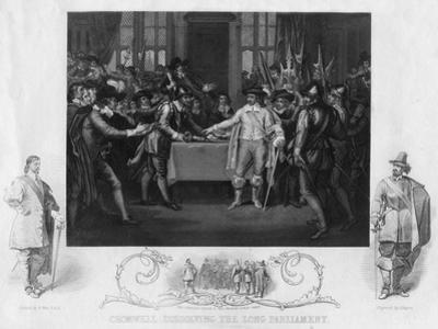 Oliver Cromwell, Dissolving the Long Parliament, 19th Century by J Rogers