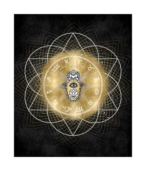 Hamsa Hand with Zodiac Signs by Oliver Jeffries