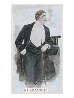 Oscar Wilde at the Height of His Success by Oliver Paque