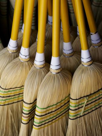 Brooms Made in Traditional Way from Millet, Tumut Broom Factory by Oliver Strewe