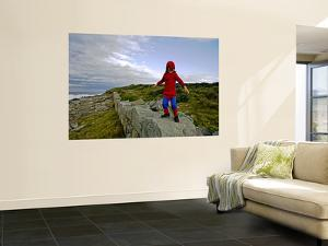 Child Dressed as Spiderman at Maroubra Beach by Oliver Strewe