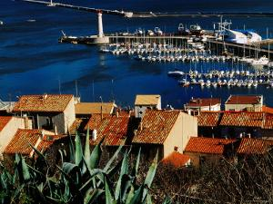 Harbour and Waterfront Buildings in Foreground, Sete, Languedoc-Roussillon, France by Oliver Strewe