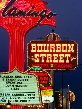 Neon Signs on the Strip, Las Vegas, U.S.A. by Oliver Strewe