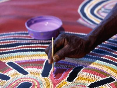 Painting of Aboriginal Artwork, Northern Territory, Australia by Oliver Strewe