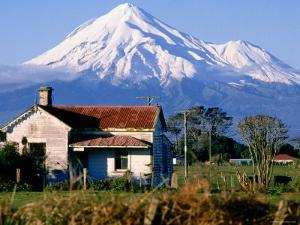 Snow-Capped Mount Taranaki, New Plymouth, New Zealand by Oliver Strewe
