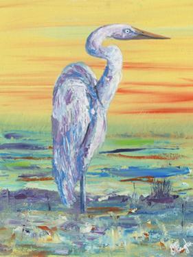 Egret Sunset I by Olivia Brewington