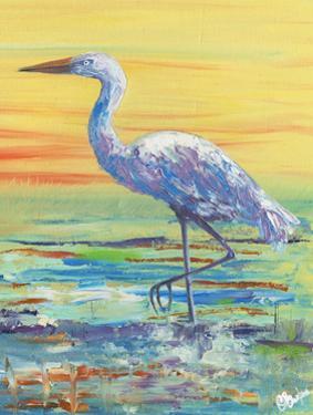 Egret Sunset II by Olivia Brewington