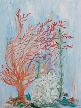 Painterly Coral I by Olivia Brewington