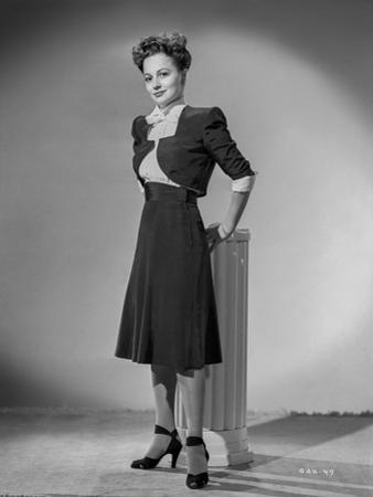 Olivia DeHavilland Posed in Dress by E Bachrach