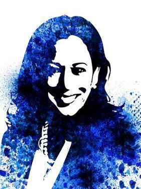 Kamala Harris Watercolor I by Olivia Morgan