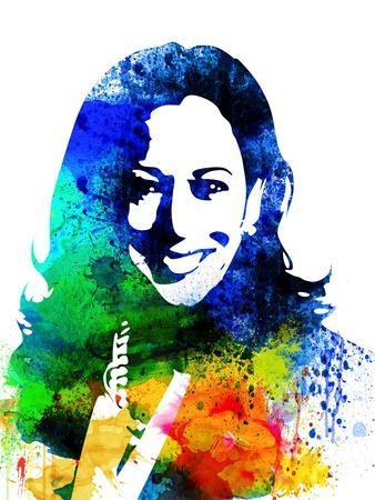 Kamala Harris Watercolor