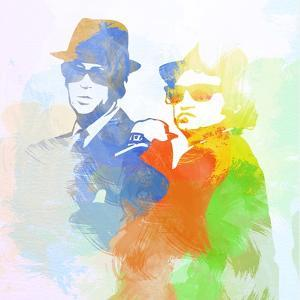 Legendary Blues Brothers Watercolor by Olivia Morgan