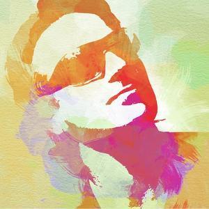 Legendary  Bono Watercolor by Olivia Morgan