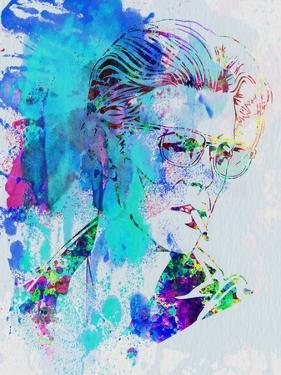Legendary David Bowie Watercolor by Olivia Morgan