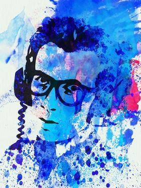 Legendary Elvis Costello Watercolor by Olivia Morgan