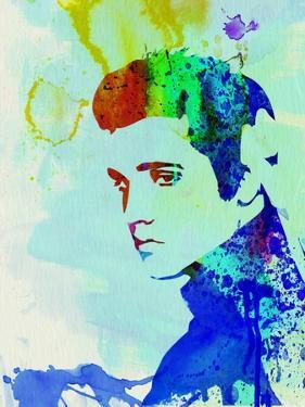 Legendary Elvis Watercolor I by Olivia Morgan