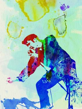 Legendary Elvis Watercolor II by Olivia Morgan