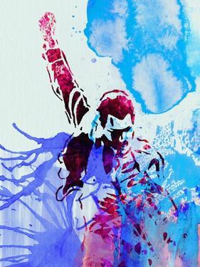 Legendary Freddie Mercury Watercolor I by Olivia Morgan
