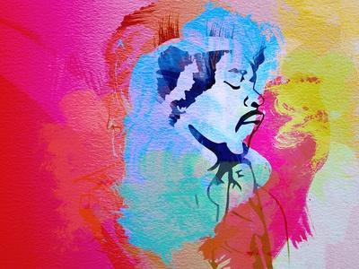 Legendary Hendrix Watercolor
