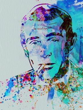 Legendary Humphrey Bogart Watercolor by Olivia Morgan