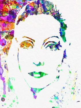 Legendary Ingrid Bergman Watercolor by Olivia Morgan