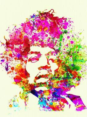 Legendary Jimi Hendrix Watercolor I by Olivia Morgan