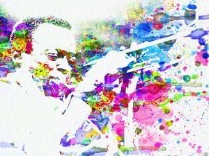 Legendary John Coltrane Watercolor by Olivia Morgan