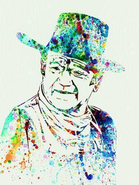 Legendary John Wayne Watercolor by Olivia Morgan
