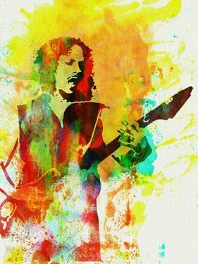 Legendary Kirk Hammett Watercolor by Olivia Morgan