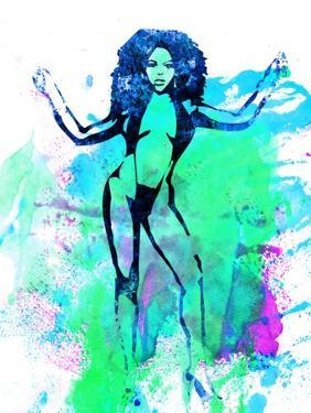 Legendary Lil Kim Watercolor by Olivia Morgan
