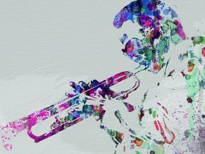 Legendary Miles Davis Watercolor by Olivia Morgan