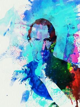 Legendary Steve Jobs Watercolor by Olivia Morgan
